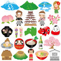 Set fukushima illustrations Stock Image