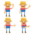 Set of funny cartoon farmer Royalty Free Stock Image