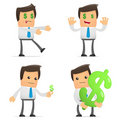 Set of funny cartoon manager Royalty Free Stock Photo