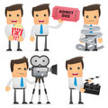 Set of funny cartoon manager Royalty Free Stock Image