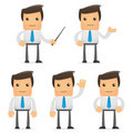 Set of funny cartoon office worker Royalty Free Stock Photo