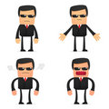 Set of funny cartoon security Royalty Free Stock Photography