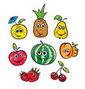 A set of funny fruits Royalty Free Stock Photo