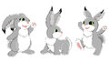 Set of funny rabbits Stock Image