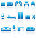 Set of furniture icons Royalty Free Stock Photos