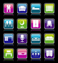 Set of furniture icons. Stock Photography