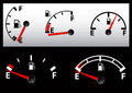 Set of Gas Tank Illustration Royalty Free Stock Photos
