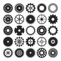 Set of gear wheels isolated on white background for design Royalty Free Stock Photo