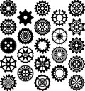 Set of gears this is a ized Royalty Free Stock Photo