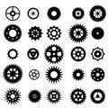 Set of gears silhouette
