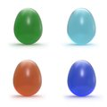 Set of gem eggs Royalty Free Stock Images