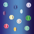Set of gems jewelry
