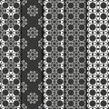 Set of geometric line lattice seamless arabic pattern. Islamic oriental style. Wrapping paper. Scrapbook paper. Tiling Royalty Free Stock Photo