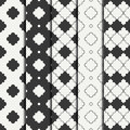 Set of geometric line monochrome lattice seamless arabic pattern. Islamic oriental style. Wrapping paper. Scrapbook Royalty Free Stock Photo