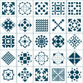Set geometric patterns Royalty Free Stock Images