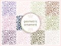 Set of geometric patterns in pastel gentle tones. Seamless pattern, background, texture. Vector ornament. Decorative tiles. Royalty Free Stock Photo