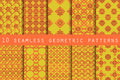 Set of geometric seamless pattern the pattern for wallpaper tiles fabrics and designs vector illustration Stock Image