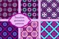 Set of 6 geometric seamless patterns.