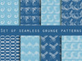 Set of geometric seamless patterns. The pattern of the lines. Collection of vector illustrations. Royalty Free Stock Photo