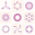 Set of geometric shapes.