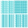 Set of geometrical seamless flat pattern with d illusion vector illustration no gradients no effects only plain colors Stock Photography