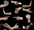 Set of gestures, hands, fingers Royalty Free Stock Photos