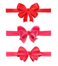 Set of gift bows Stock Image