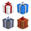 Set of gift boxes. Royalty Free Stock Photos