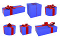 Set of gift boxes Stock Image