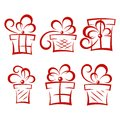 Set of gift boxes this is file eps format Stock Photography
