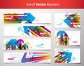 Set of gift cards and banners with arrows. Royalty Free Stock Image