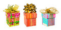 Set of gifts isolated on white background Stock Photography