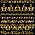 Set of gilt ornaments Stock Photos
