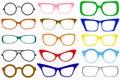 Set of glasses Royalty Free Stock Photo