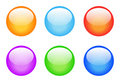 Set of glassy buttons Stock Image