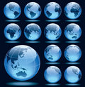 Set of globes Royalty Free Stock Photos