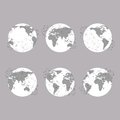Set of globes, World Map Vector Illustration, Royalty Free Stock Photo