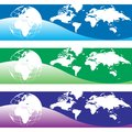 Globe world map banner vector illustration Royalty Free Stock Photo
