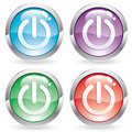 Set gloss button with Switch Royalty Free Stock Photo