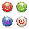 Set Gloss button with Switch Royalty Free Stock Photos