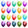 Set of glossy balloons Royalty Free Stock Images