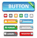 Set glossy buttons Royalty Free Stock Image