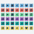 Set of glossy colored buttons icons for web design Royalty Free Stock Photo