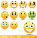 Set of glossy Emoticons Royalty Free Stock Image