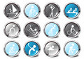 Set of glossy sport icons Royalty Free Stock Photos