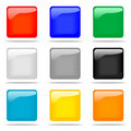 Set of glossy square buttons Royalty Free Stock Image