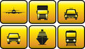 Set glossy transport icon Stock Image