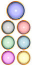Set of glossy web buttons Stock Image