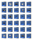 Set of glossy web and multimedia icons Stock Images