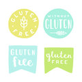 Set of gluten free badges.